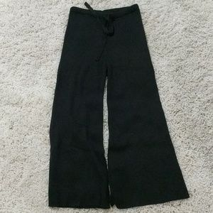 *LAST CALL* Cropped knit black maternity pants